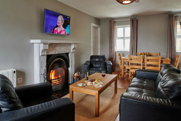 Sitting room at Armada Cottages Self Catering