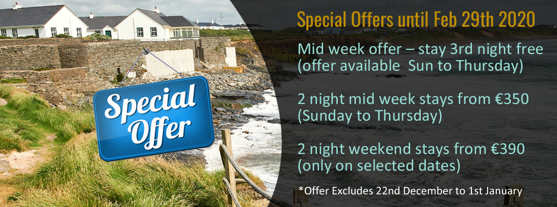 Special Offers at Armada Cottages Spanish Point