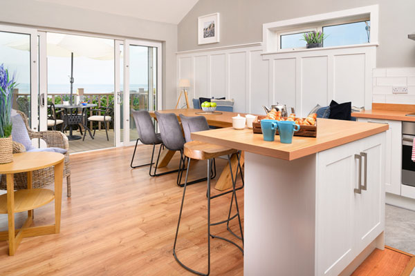Kitchen & dining at Armada self catering cottage in West Clare